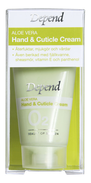 Depend O2 Aloe vera Hand & Cuticle Cream 20ml