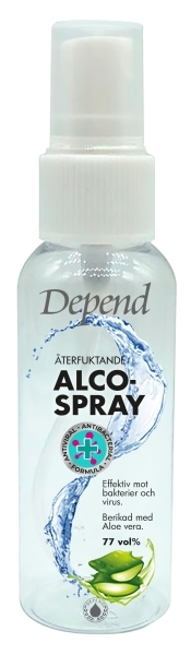 DEPEND ALCOSPRAY 50ML KÄSIDESISUIHKE